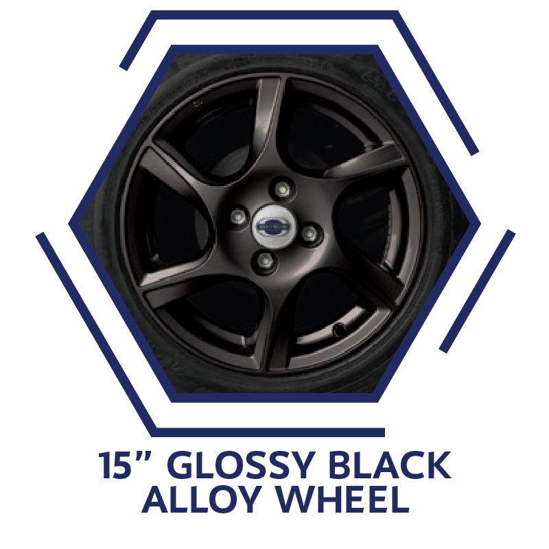 Glossy Black Alloy Wheel