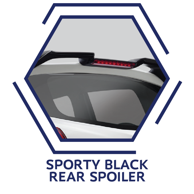 Sporty Black Rear Spoiler