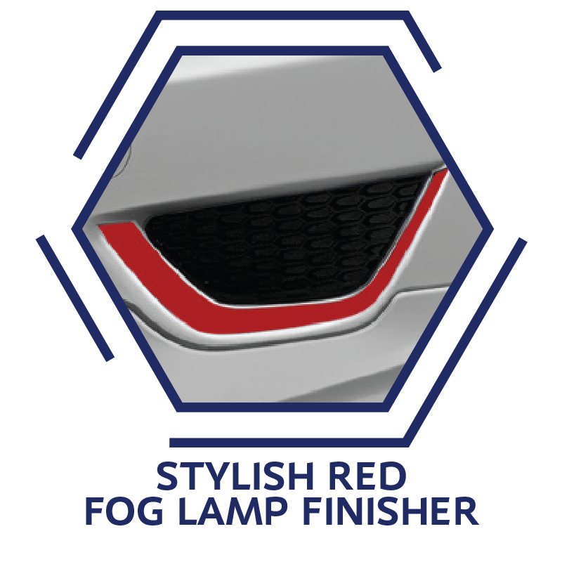 Stylish Red Fog Lamp Finisher