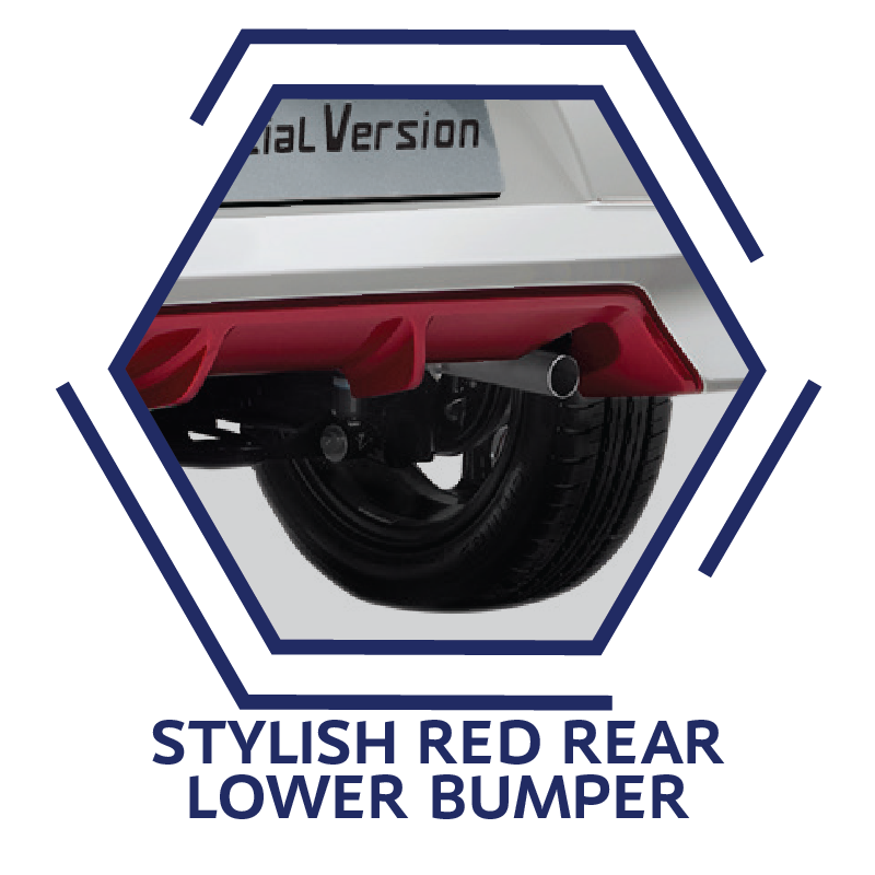 Stylish Red Rear Lower Bumper
