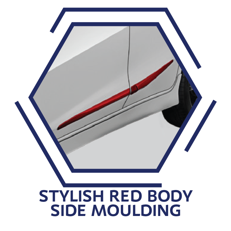 Stylish Red Body Side Moulding