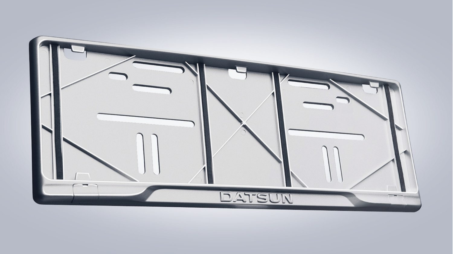 New License Plate Datsun (Silver)