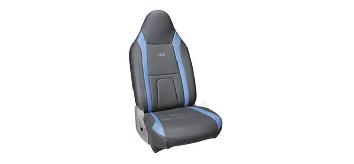 Seat Cover Art Leather Blue + Black