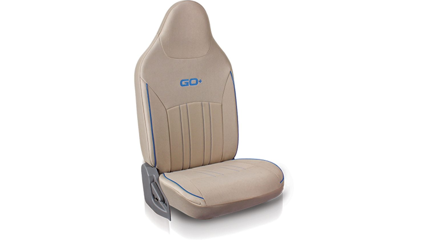 Seat cover Fabric - Beige + Blue piping