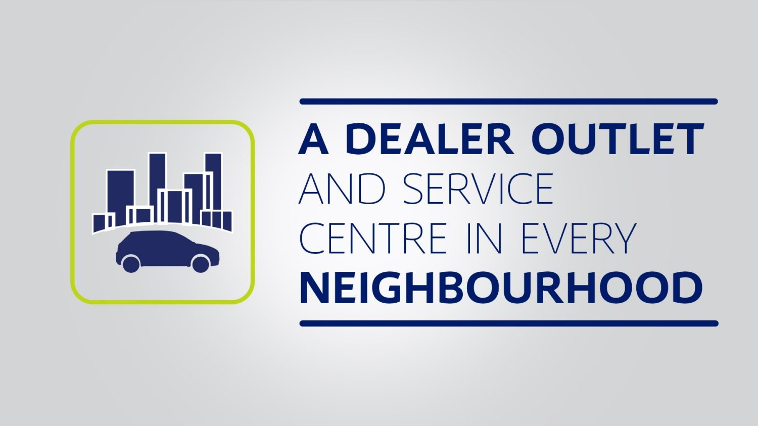 A Dealer Outlet and Service Centre in Every Neighbourhood