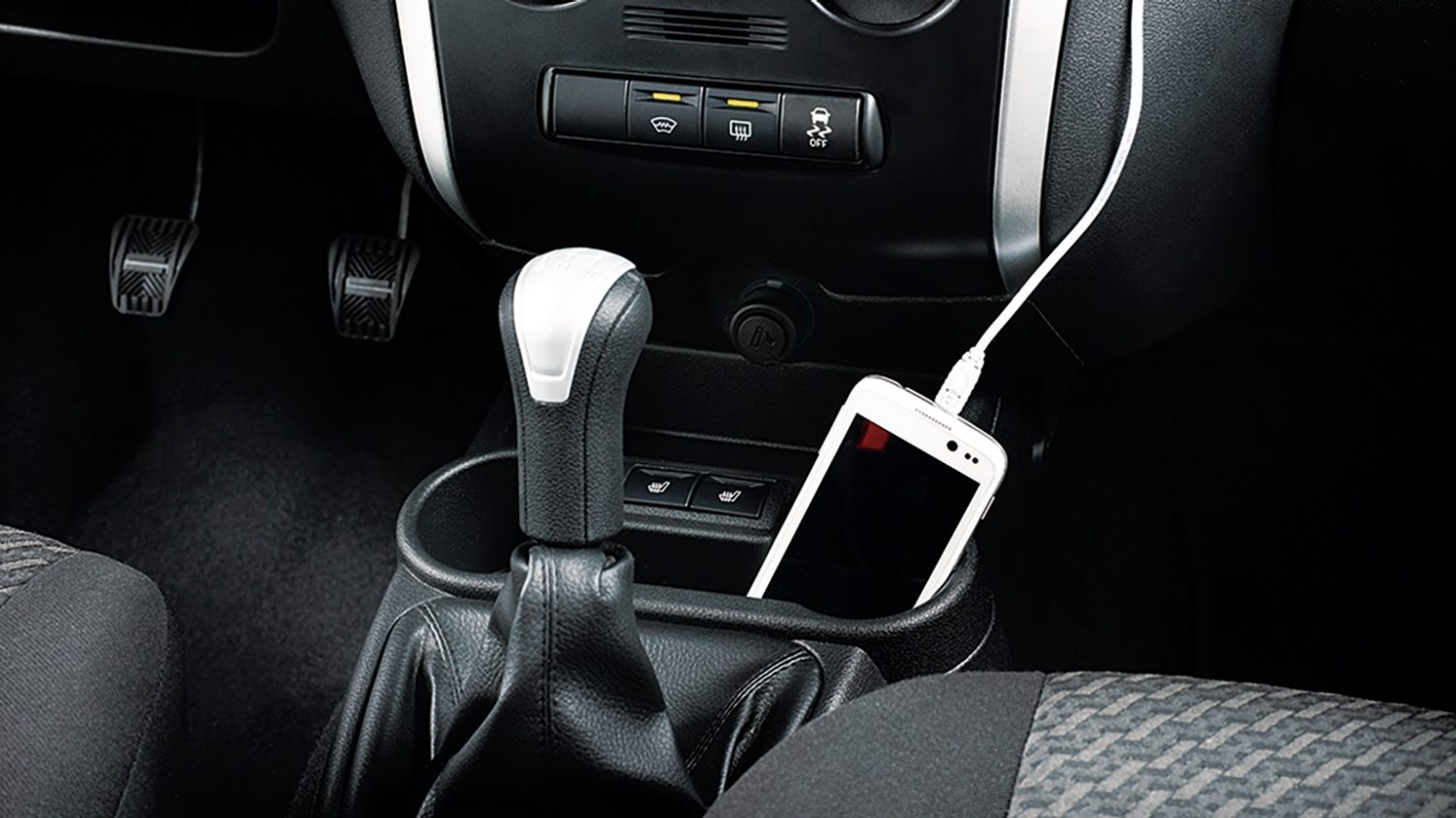 USB Connected Device in Cup Holder