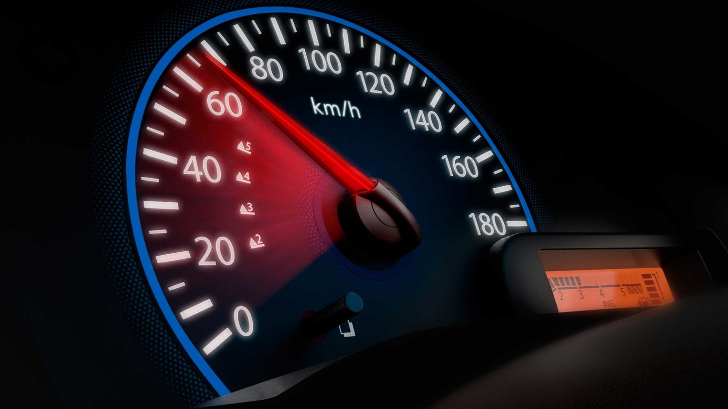 Closeup of speedometer Datsun GO