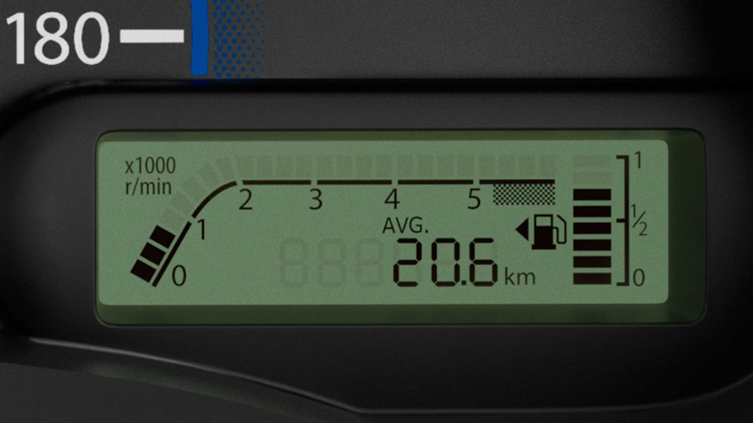Close up on Digital Fuel meter