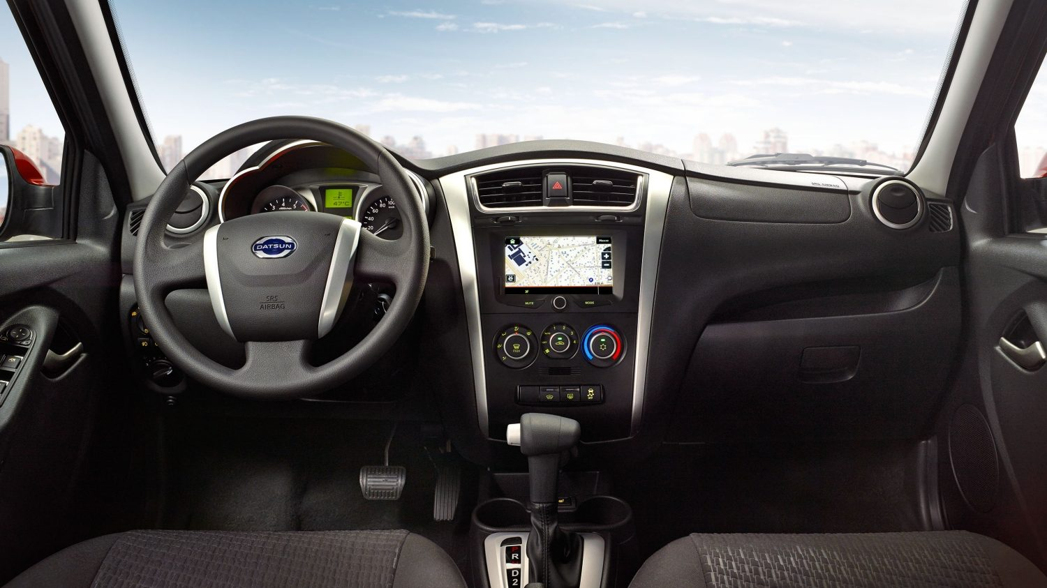 'Interior Shot of Steering Wheel and Dash