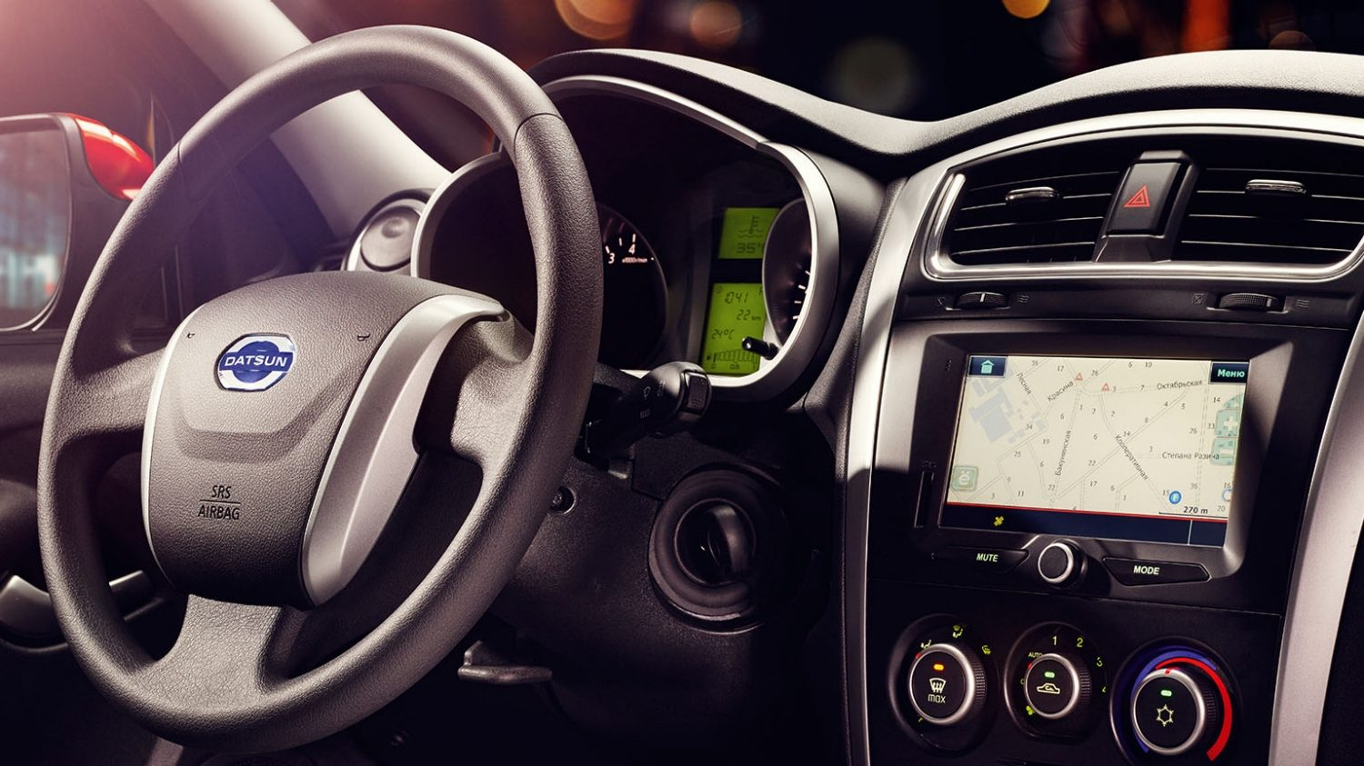 'Profile of Steering Wheel and Centre Stack
